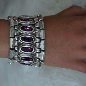 "NEW Uno De 50 Elements Crystal ARMOR Bracelet 8"""